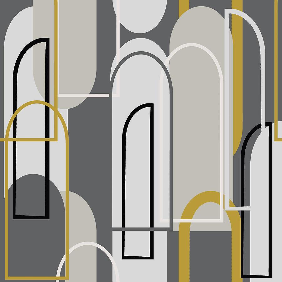 Art Deco Arch Window Pattern 3500x3500 Seamless Repeat Digital Art