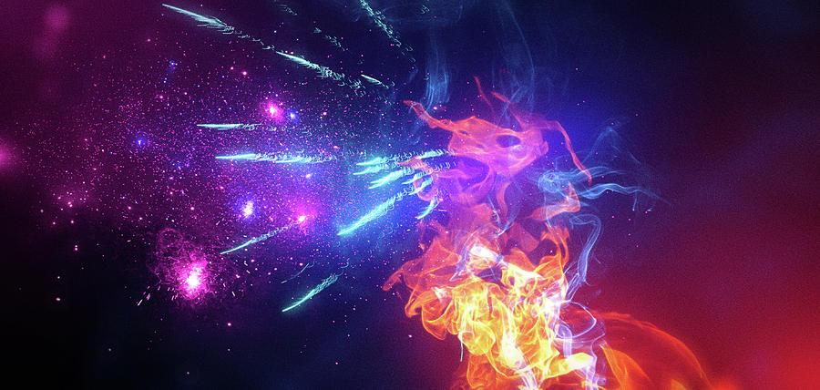 Amazing Digital Art - Art - Fire of Glory by Matthias Zegveld