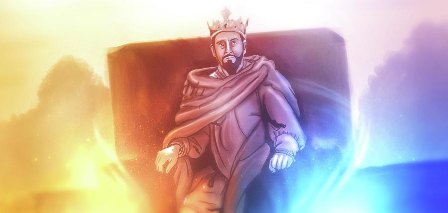 Fantasy Digital Art - Art - Great King David by Matthias Zegveld