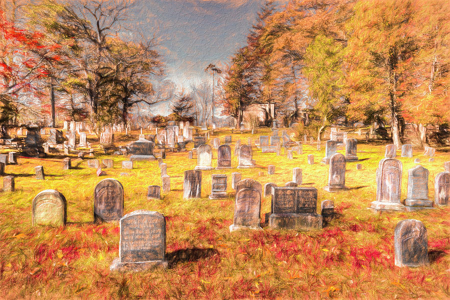 Art Of Sleepy Hollow Cemetery by David Pyatt