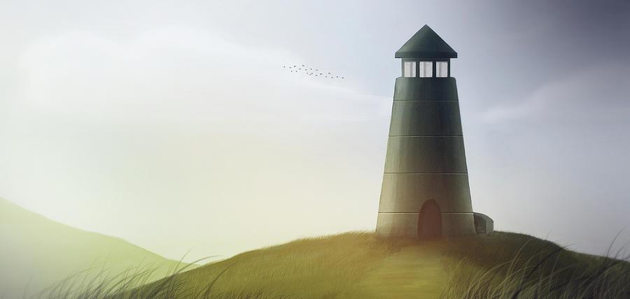 Tower Digital Art - Art - Strong Tower by Matthias Zegveld