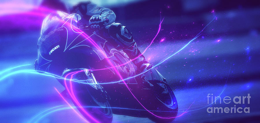 Racing Digital Art - Art -- The Race of Life by Matthias Zegveld