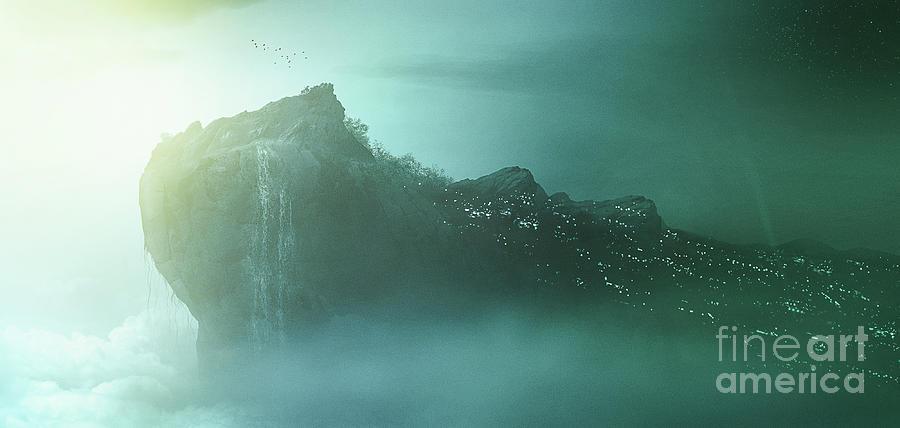 Rocks Digital Art - Art - The Rock by Matthias Zegveld