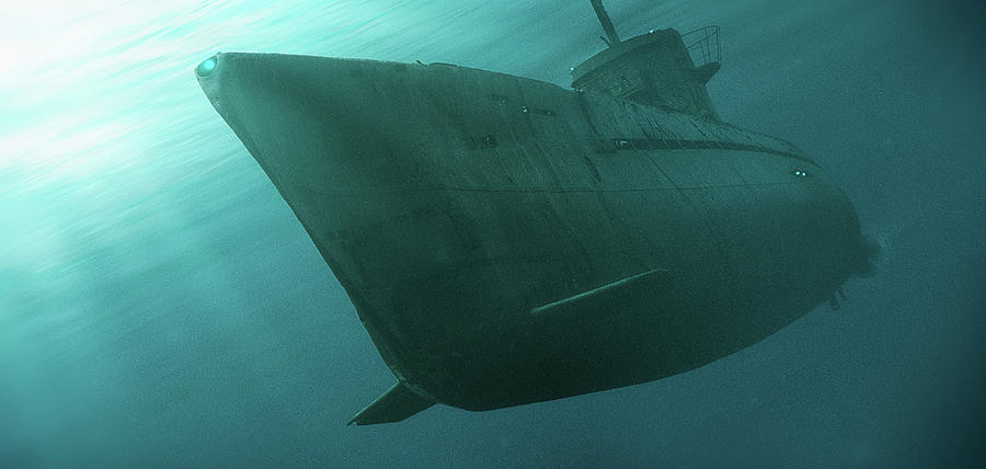 Submarine Digital Art - Art - The Submarine by Matthias Zegveld