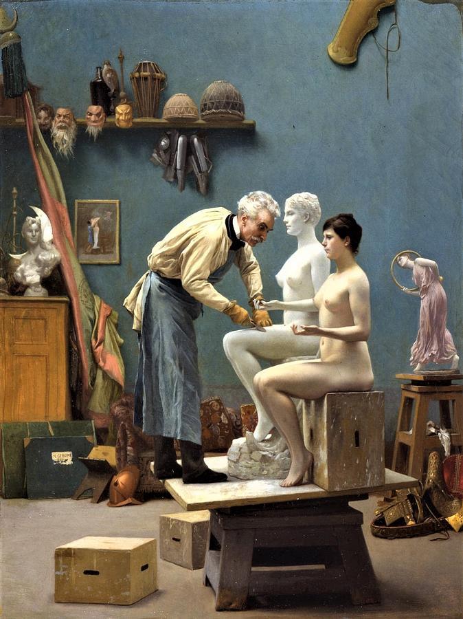 Artist Sculpting Tanagra Painting