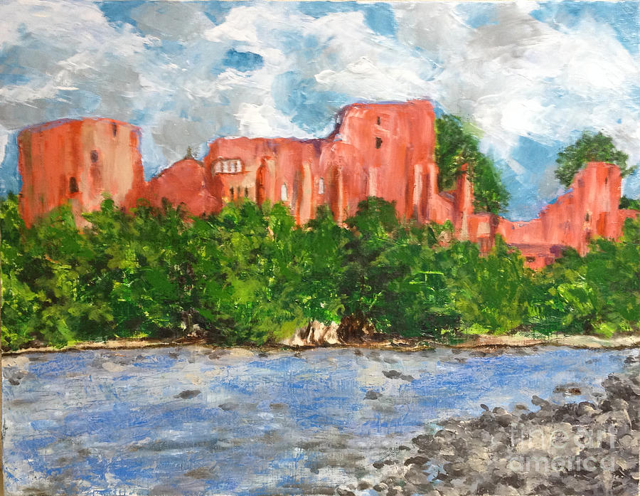Barnard Castle Painting - Artistic light of the ruins of Barnard Castle by Sawako Utsumi