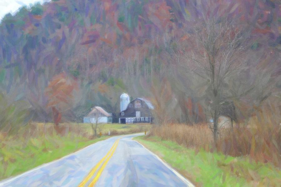 Artistic Mcgrady Barn In Late Fall 2 Photograph