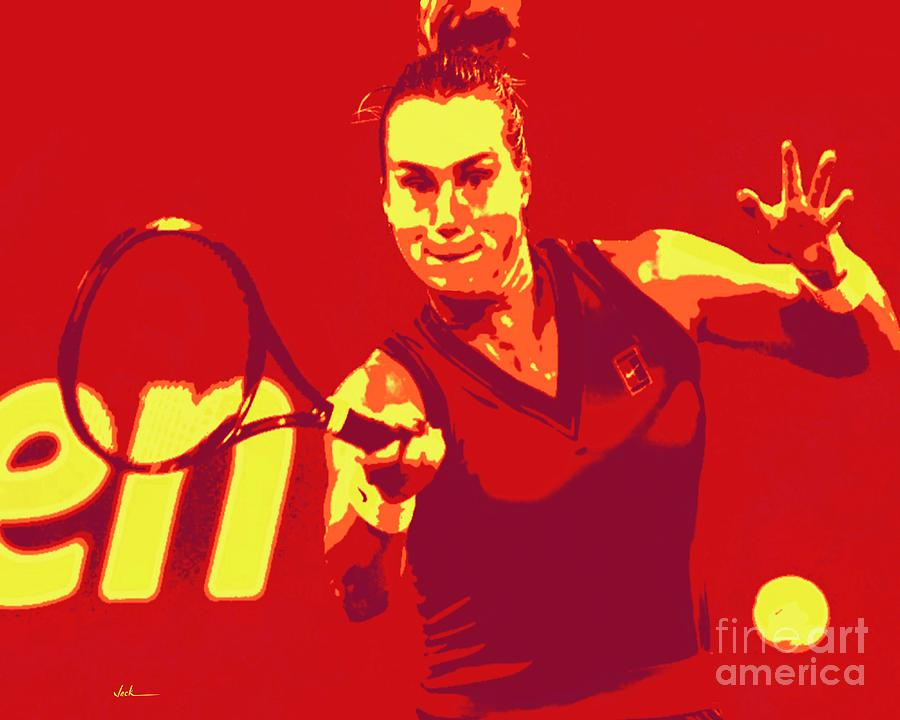 Tennis Painting - Aryna Sabalenka by Jack Bunds