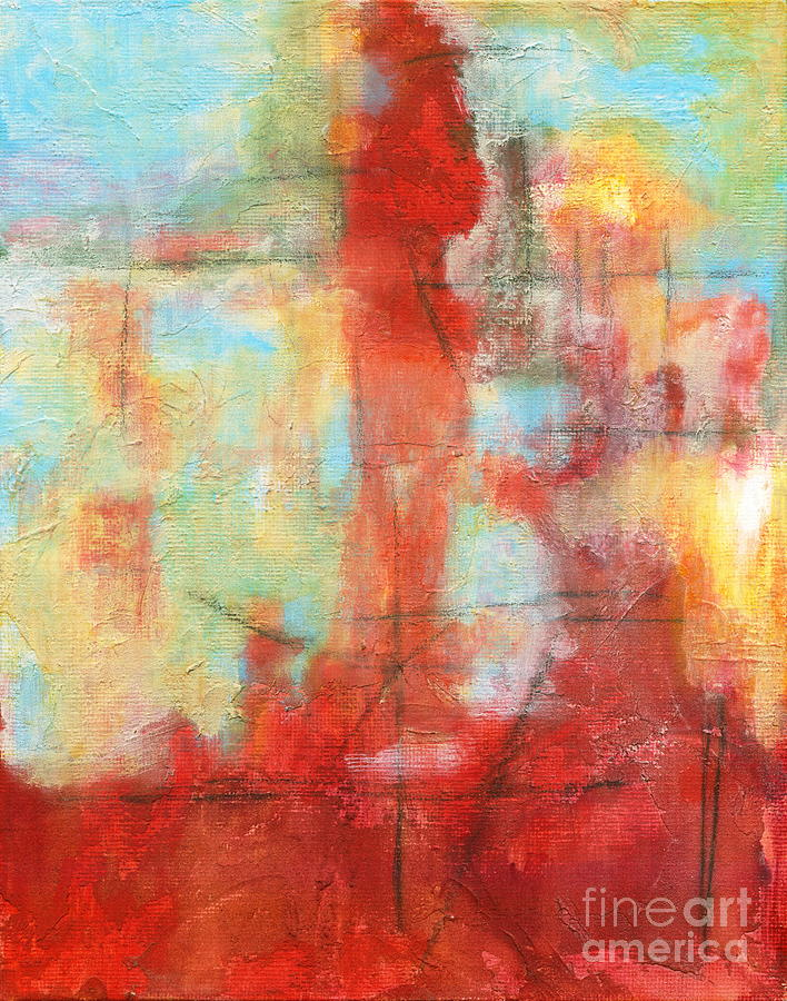 Ascension Painting - Ascension Abstract Texture Landscape by Itaya Lightbourne