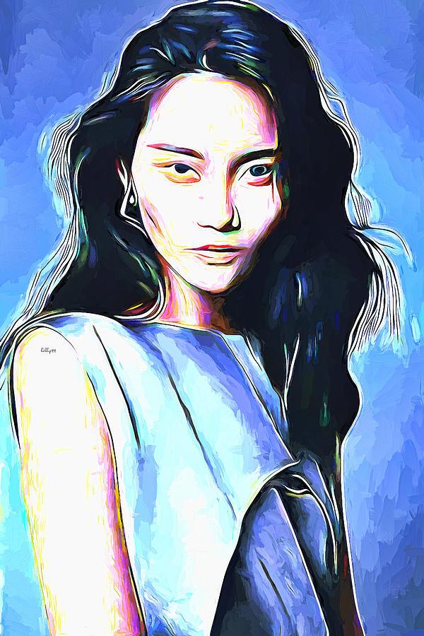 Asian Girl Portrait Painting