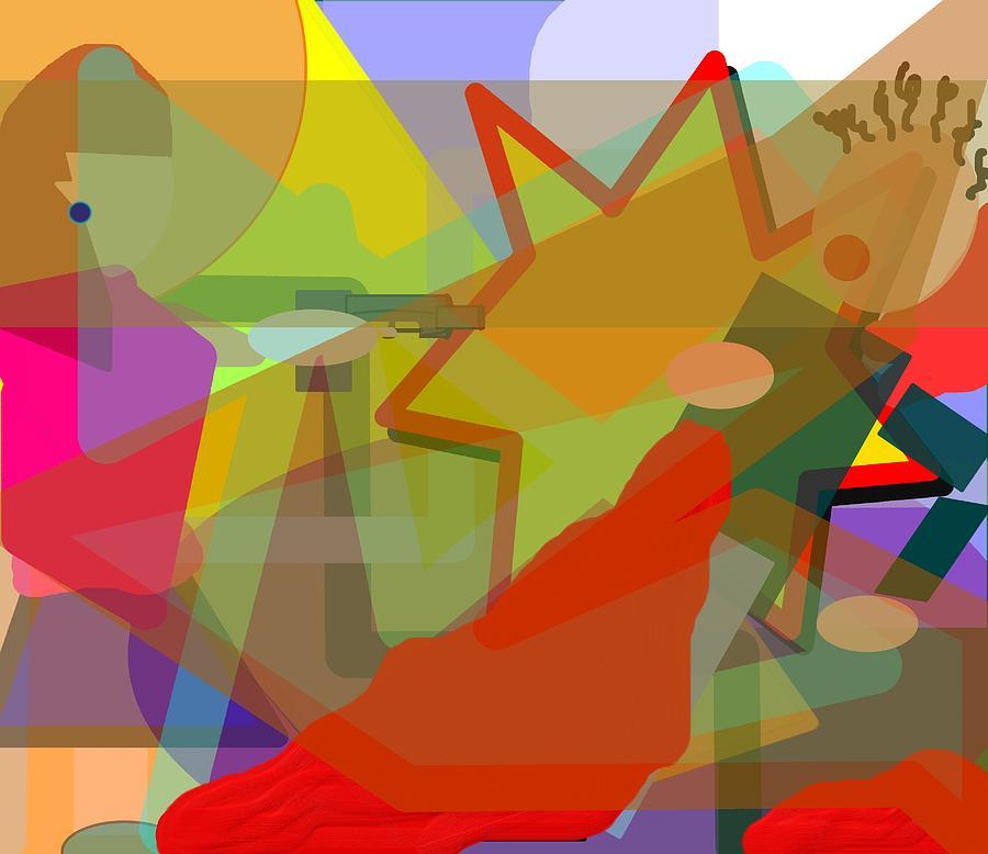 Abstract Digital Art - Assassin by Pharris Art
