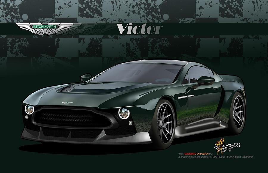 Aston Martin Victor Digital Art by Doug Schramm