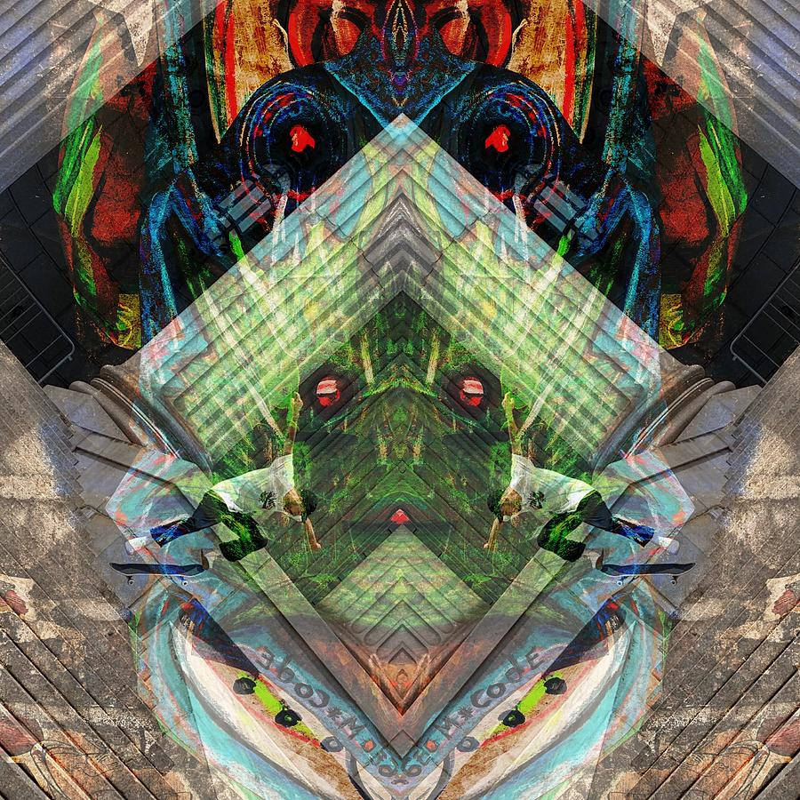 Pareidolia Digital Art - Astral Skater by Peter Ellis