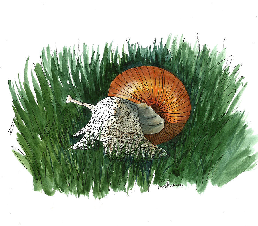 At A Snails Pace Mixed Media