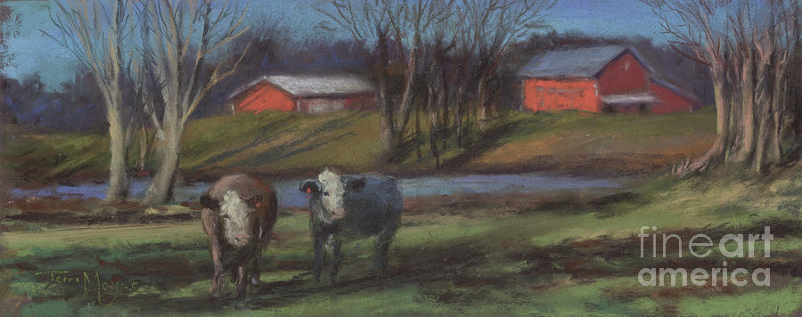 At Home In The Country Painting