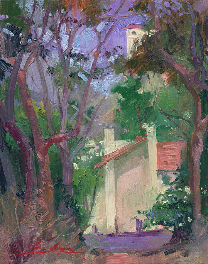 At Joureys End Plein Air Painting by Betty Jean Billups