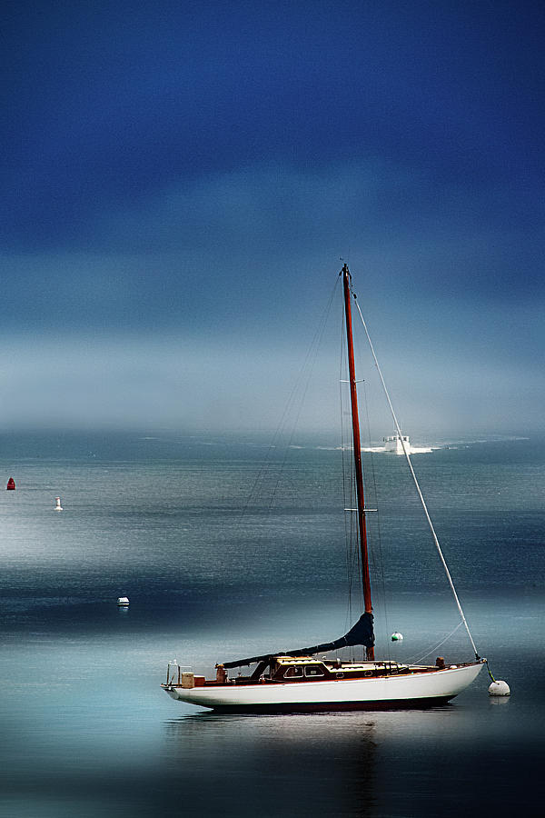 Boat Photograph - At One With The Sea by Sandra Marie Photography