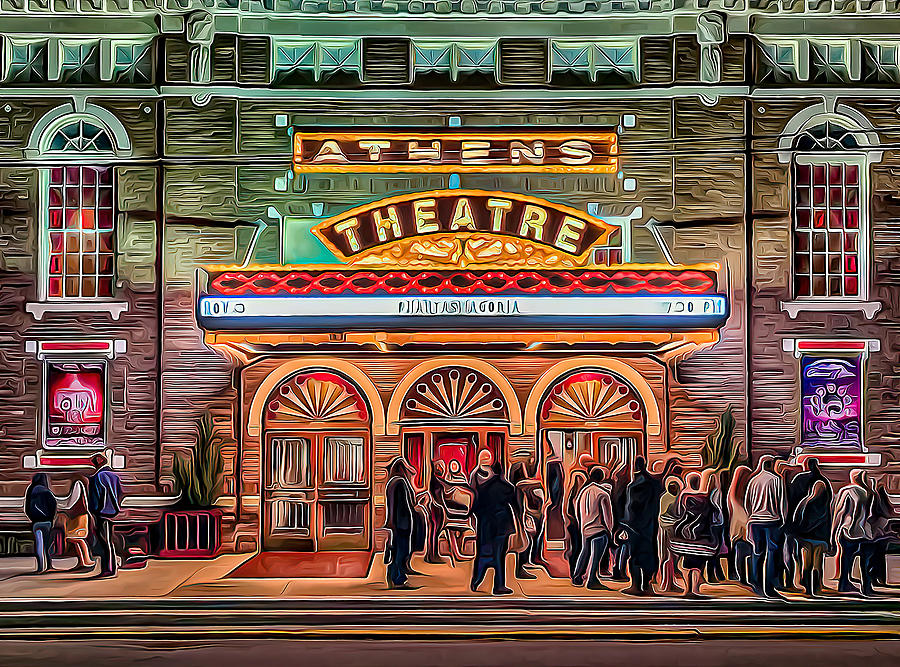 Athens Photograph - Athens Theatre by Charles LeRette
