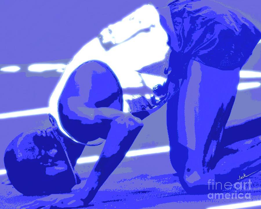 Pray Painting - Athletes and Prayer by Jack Bunds