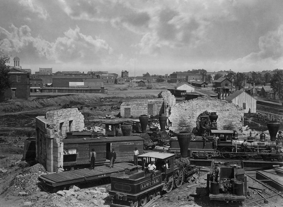 Atlanta Roundhouse In Ruins - 1866 by War Is Hell Store