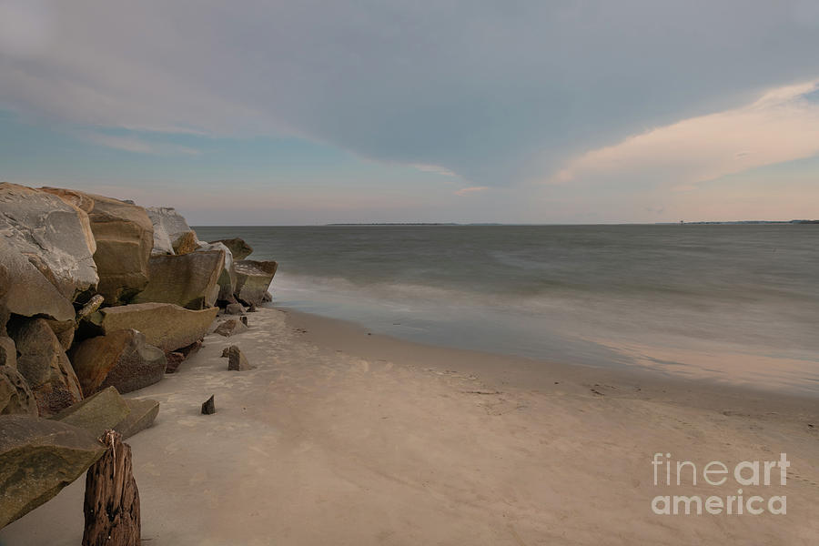 Atlantic Beach Silky Waters - Sounds Of The Sea Photograph
