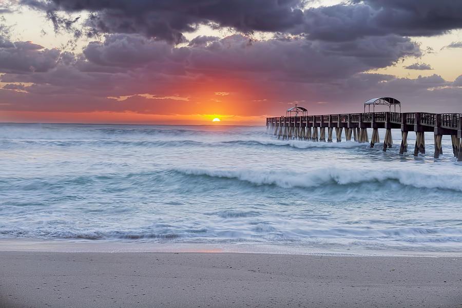 Atlantic Photograph - Atlantic Dawn by Zev Steinhardt
