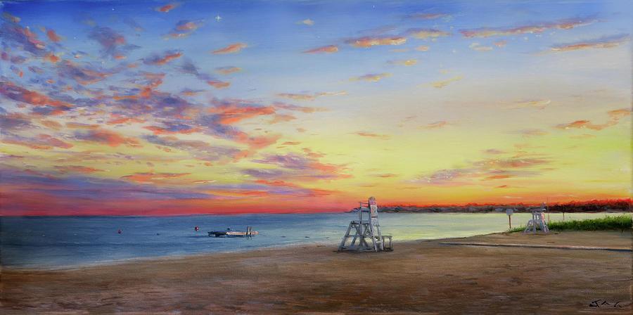 Sunset Painting - Atlantic Sunset by Jonathan Gladding
