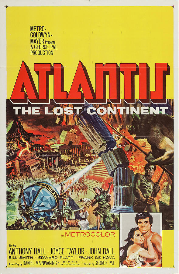 atlantis-the Lost Continent, 1961 Mixed Media