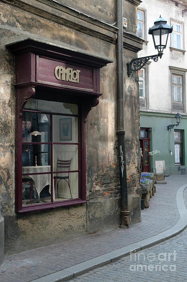 Atmospheric Cafe In Backstreet Krakow Poland Photograph