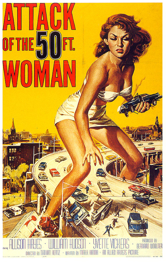 attack Of The 50 Ft. Woman Poster 1958 Mixed Media