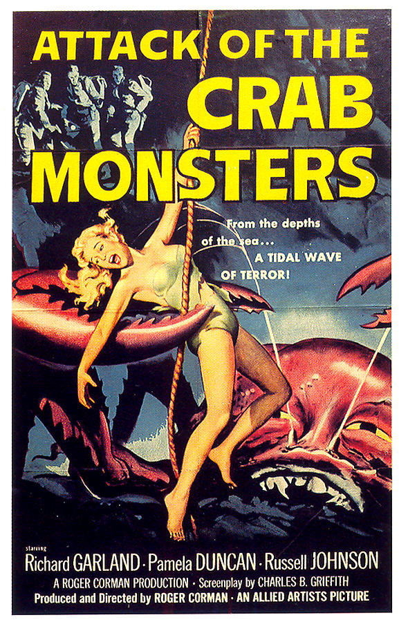 attack Of The Crab Monsters Movie Poster 1957 Mixed Media