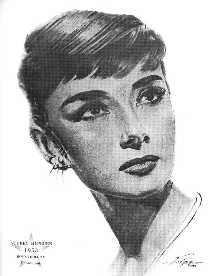 Audrey Hepburn 1953 Drawing