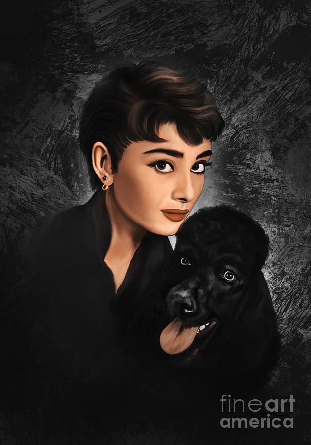 Audrey Hepburn. by Andrzej Szczerski
