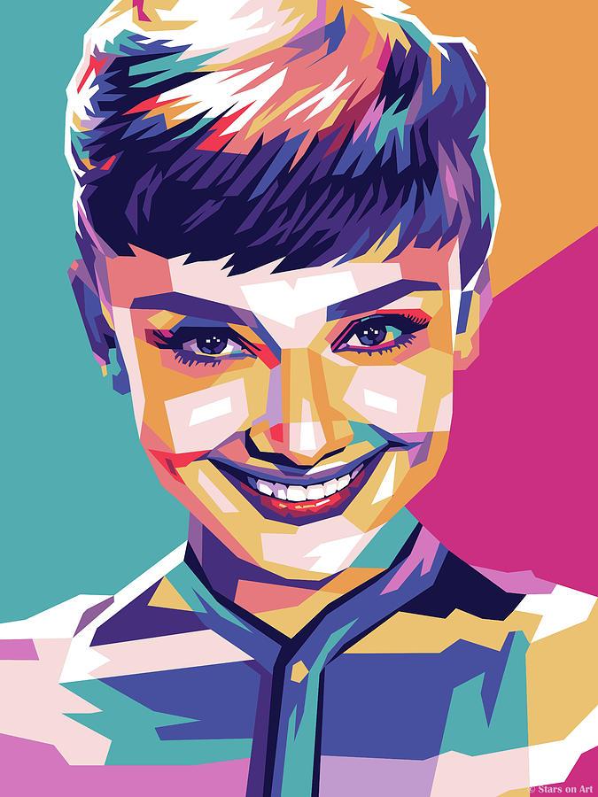 Audrey Hepburn - Early Years Mixed Media