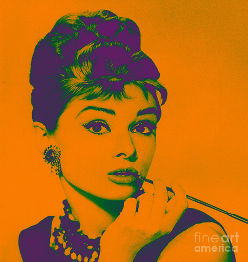 Audrey Hepburn Purple Painting