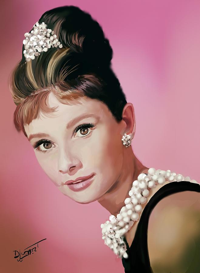 Audrey Hepburn Speed Painting by David Luebbert