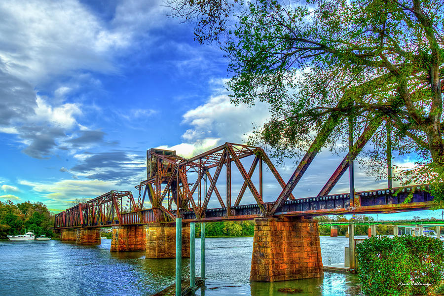 Augusta Photograph - Augusta GA IronMan 2 6th Street Trestle Bridge Landscape Architectural Art by Reid Callaway