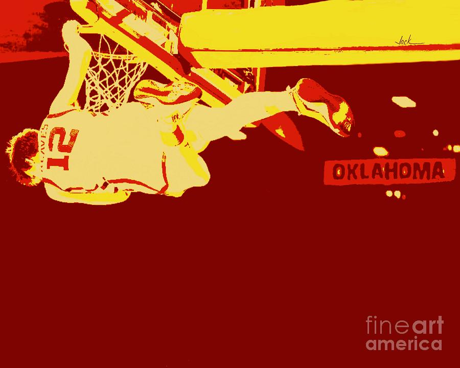 Dunk Painting - Austin Reaves Dunk by Jack Bunds