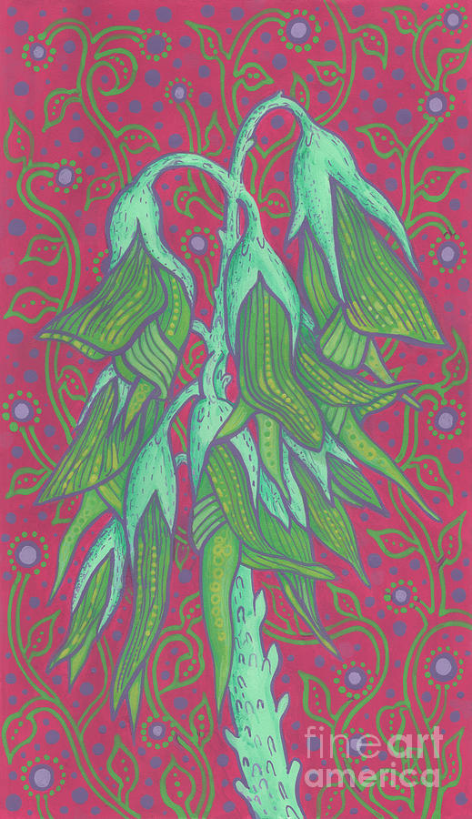 Australian Flowers Painting - Australian Bird Flower, Decorative Painting by Julia Khoroshikh