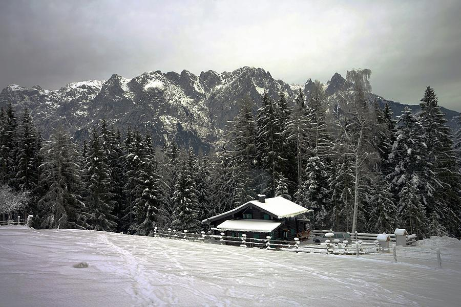 Alps Photograph - Austrian Alps in Winter by Two Small Potatoes