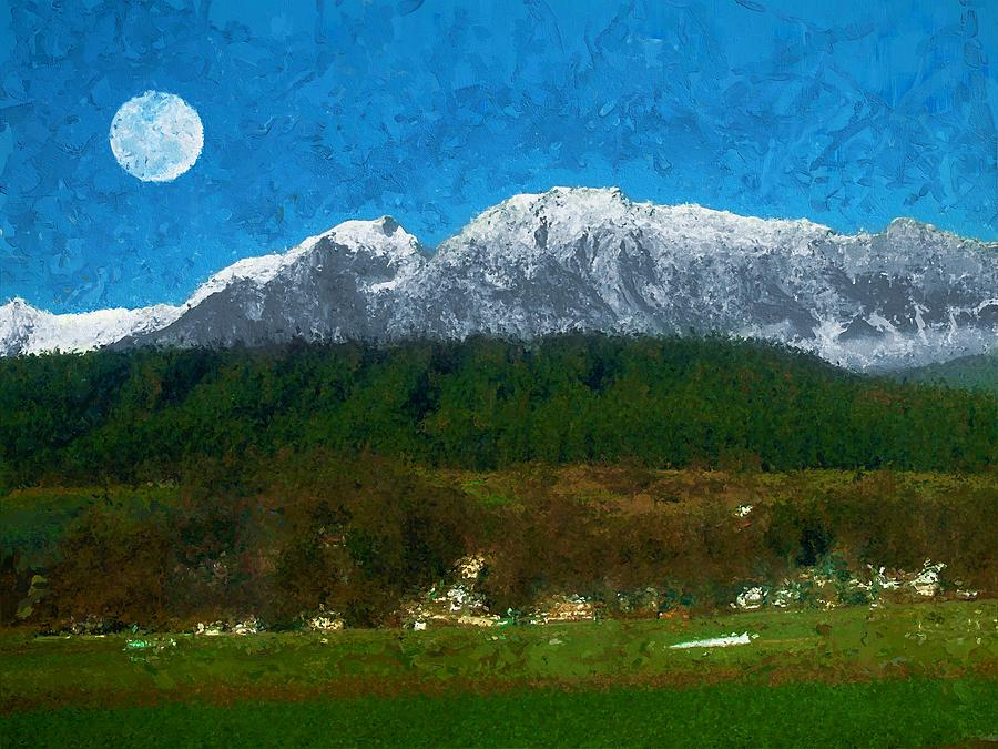 Austrian Village Digital Art