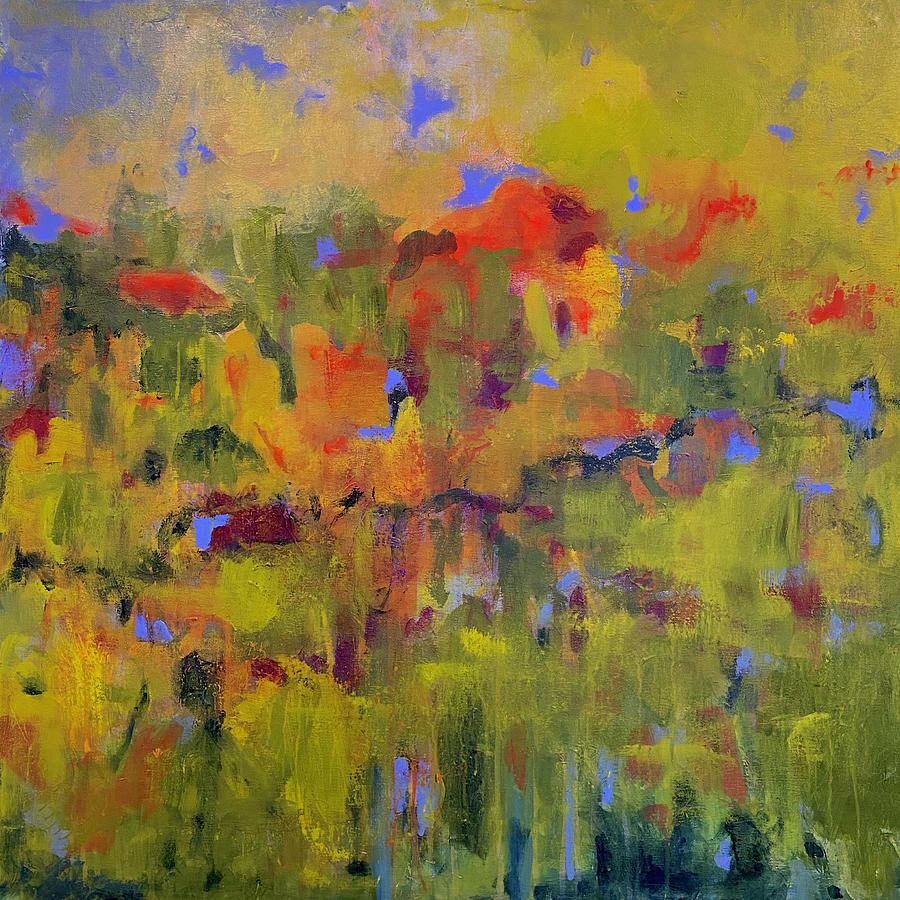 Colorful Painting - Autumn Abstract by Margot Sappern