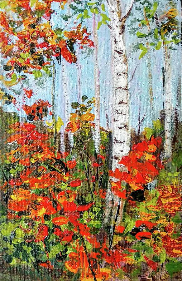 Autumn aspens by Asha Sudhaker Shenoy
