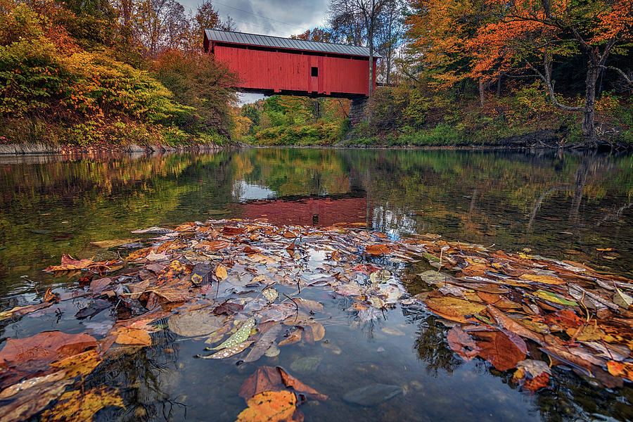 Autumn at Slaughter House Bridge by Rick Berk
