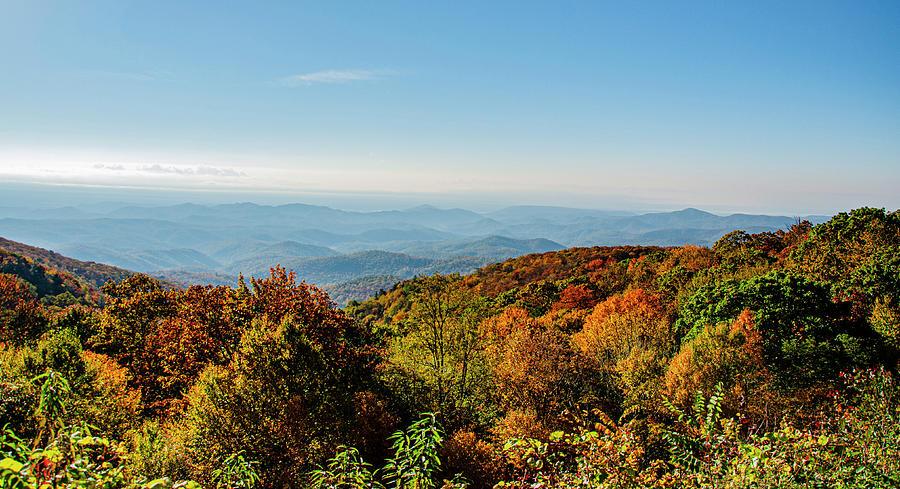 Autumn Photograph - Autumn Blue Ridge Parkway  by Jim Cook