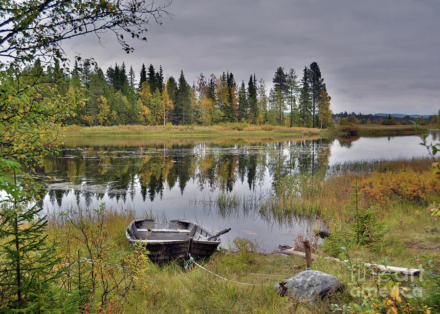 Autumn Boat Photograph