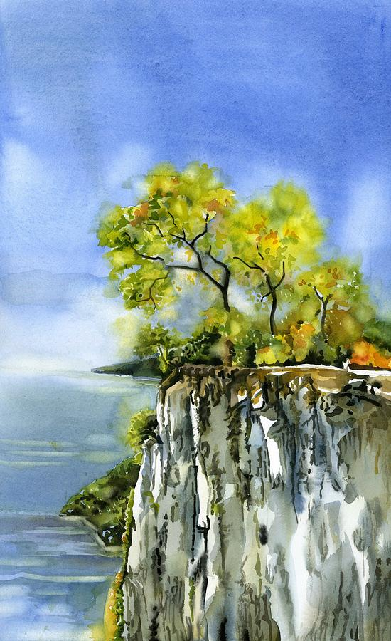 Autumn by the cliff by Alfred Ng