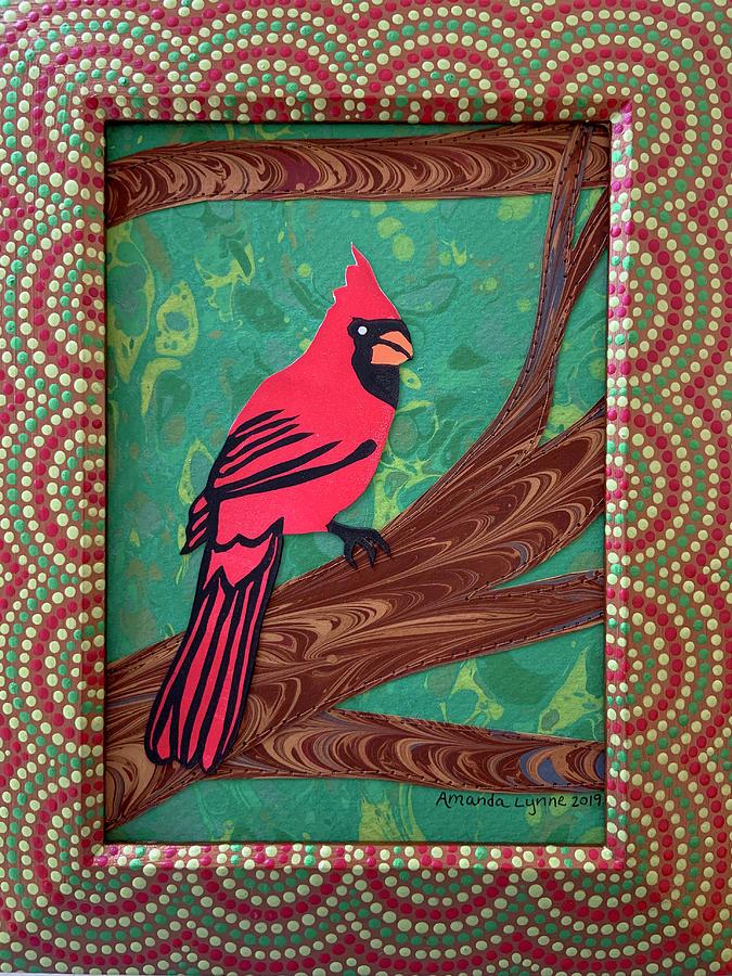 Autumn Cardinal by Amanda Lynne