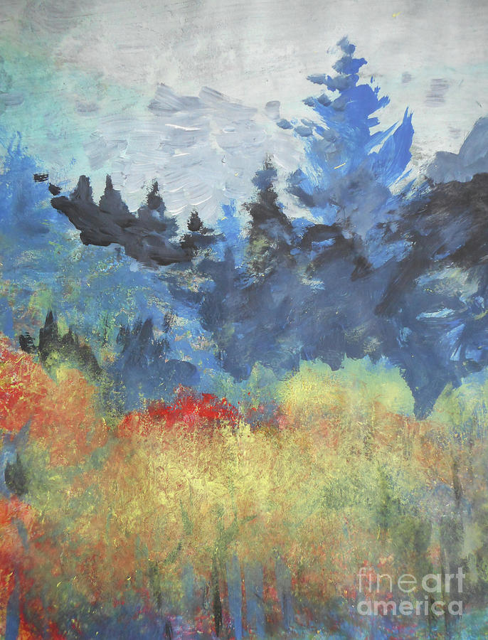 Autumn Cascade by John Fish
