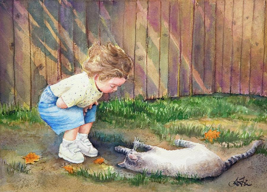 Child Painting - Autumn Catnip by Arthur Fix